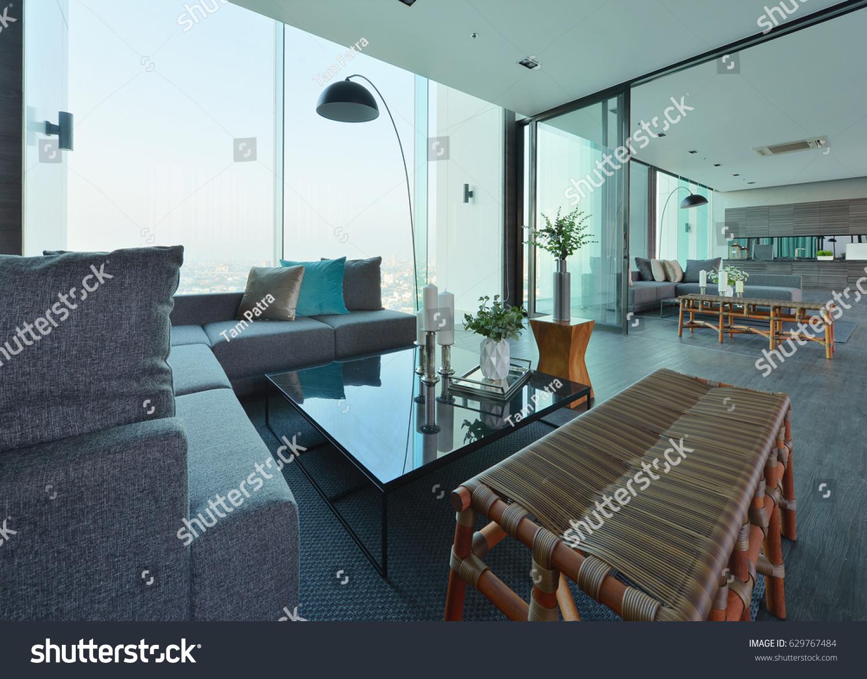 Luxury Modern Living Room Interior Decoration Stockfoto Jetzt