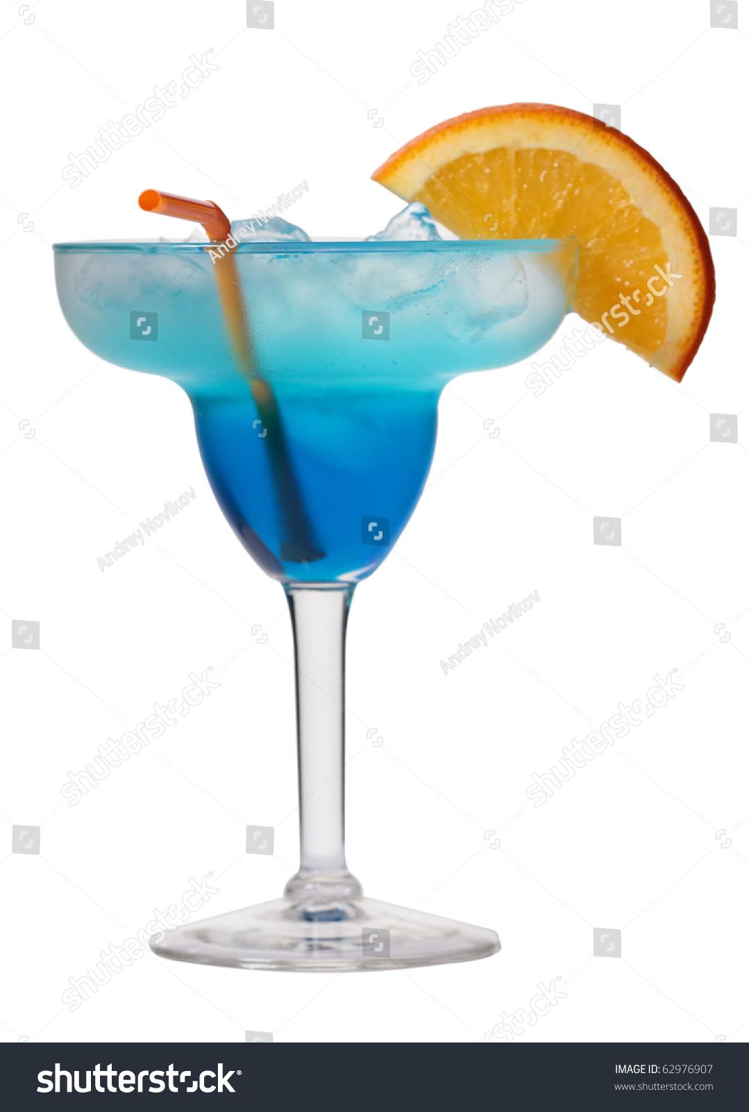 Blue lagoon cocktail  Blue Lagoon Cocktail Isolated On White Stock Foto 62976907 ...