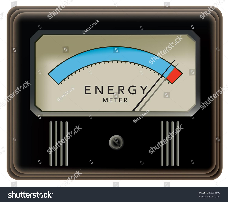 Power Meter Clip Art : Energy meter stock vector shutterstock