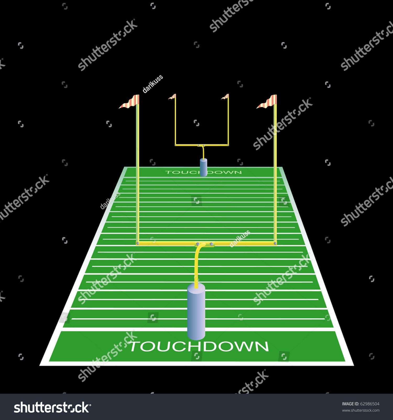 american football field goals vector illustration stock American Football Field Backgrounds american football field clip art