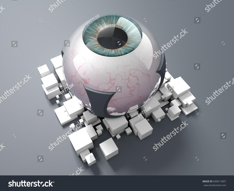 3 D Rendering Bionic Eye Prototype Implant Stock Illustration ...