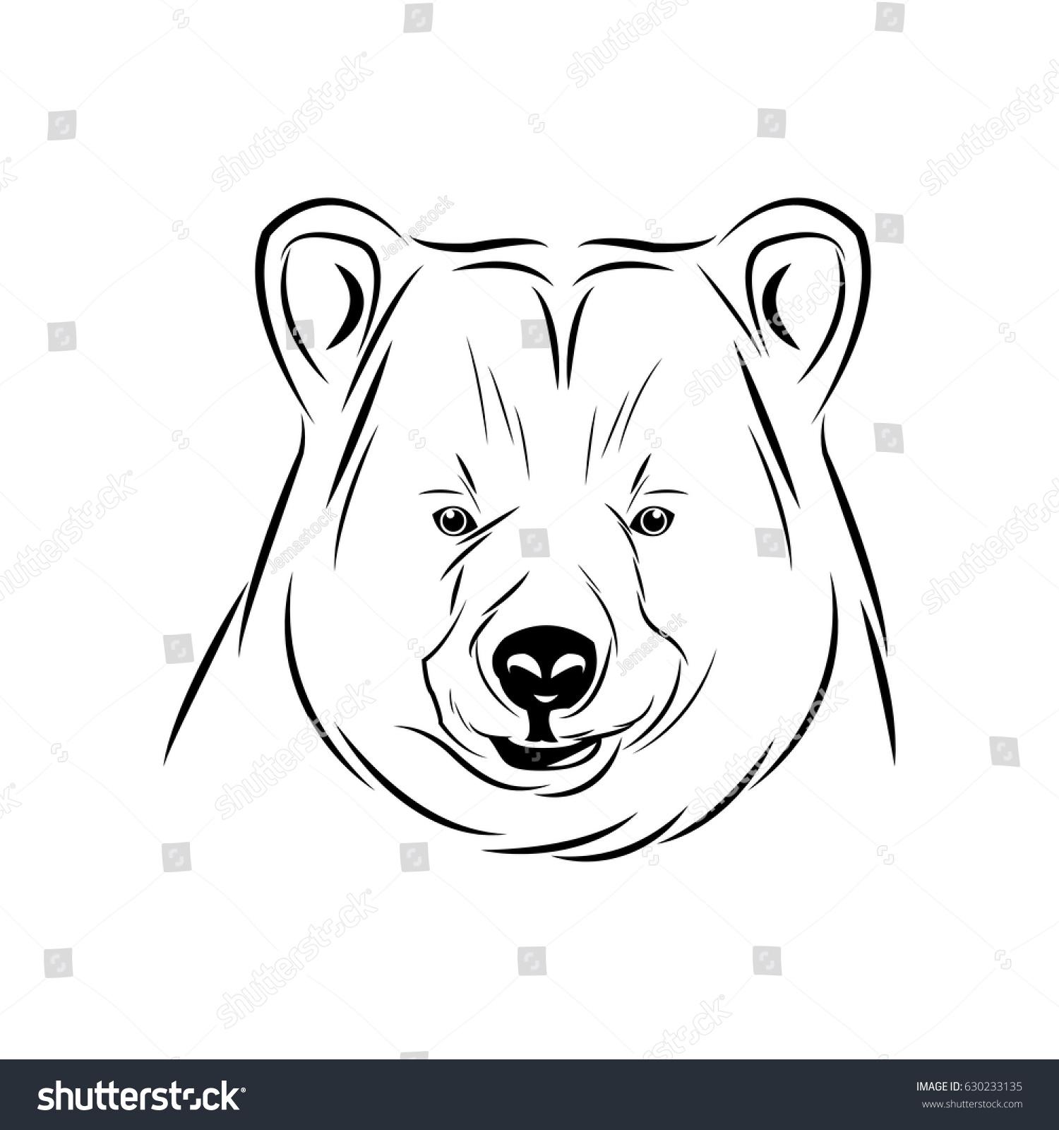 Head Bear Animal Free Spirit Symbol Stock Vector Royalty Free 630233135