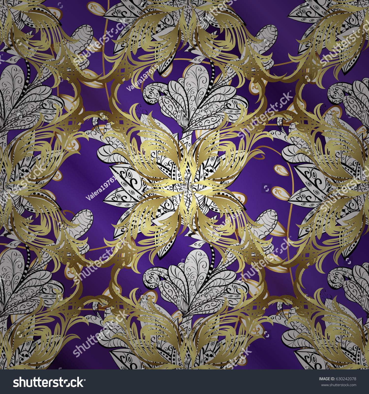 Gold Floral Ornament Baroque Style Golden Image Vectorielle De Stock