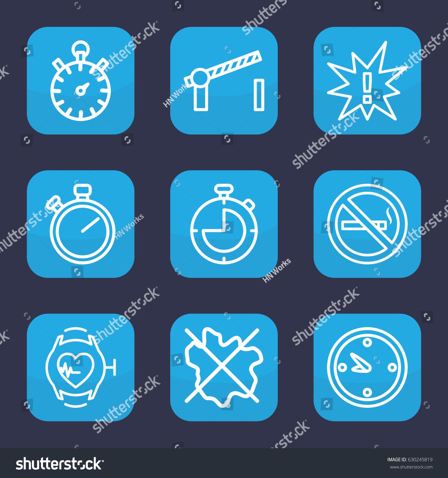Stop icon set 9 outline stop stock vector 630245819 shutterstock stop icon set of 9 outline stop icons such as no wash no smoking biocorpaavc