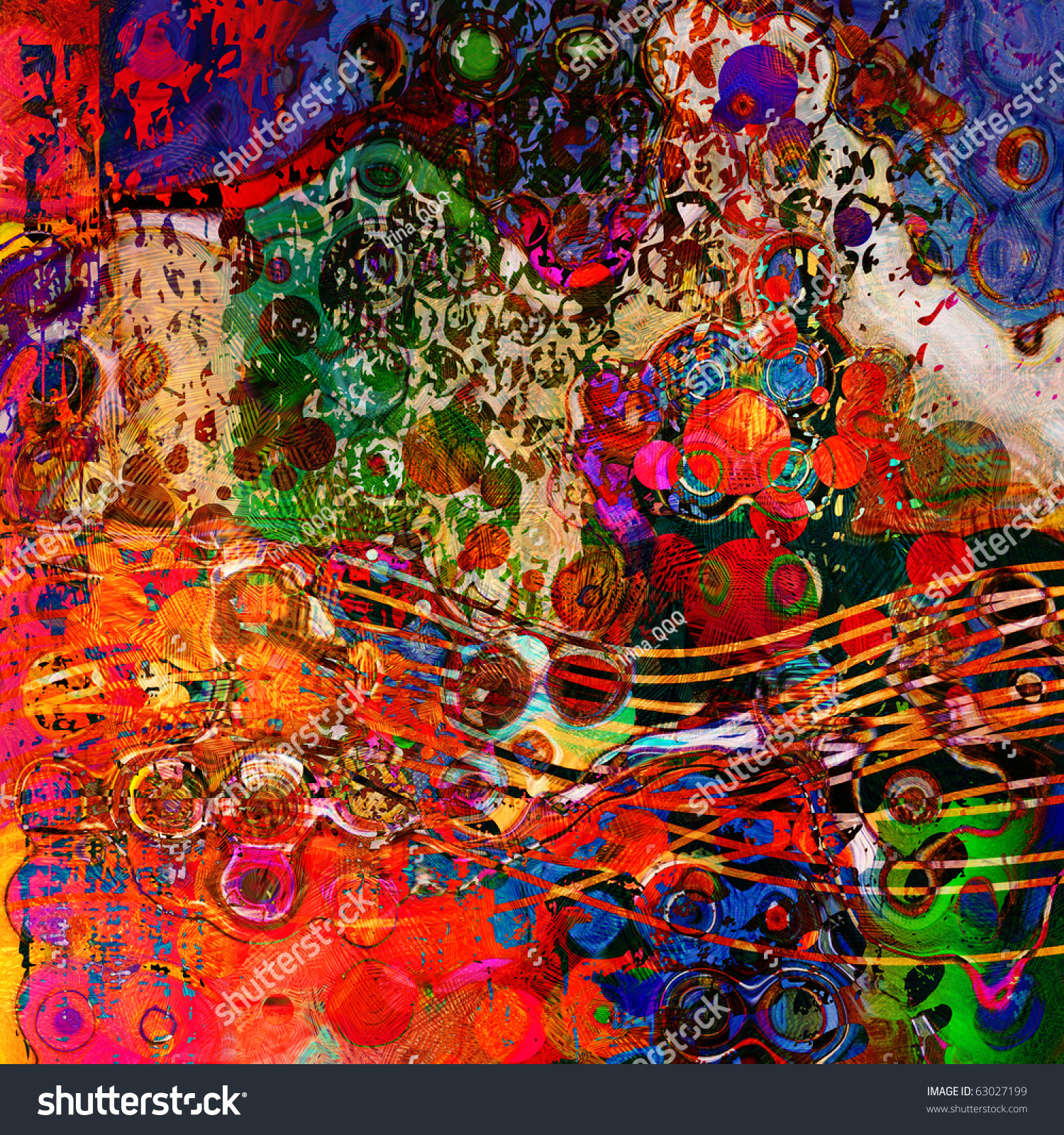 Art Abstract Colorful Rainbow Pattern Background Stock