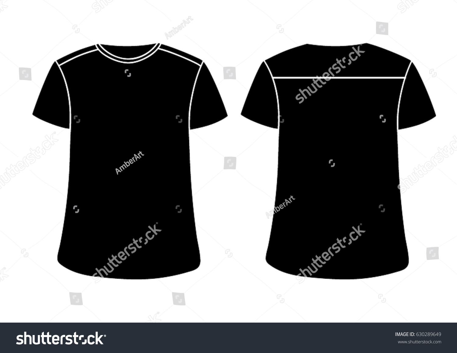 black vector males females tshirt template stock vector 630289649 shutterstock. Black Bedroom Furniture Sets. Home Design Ideas