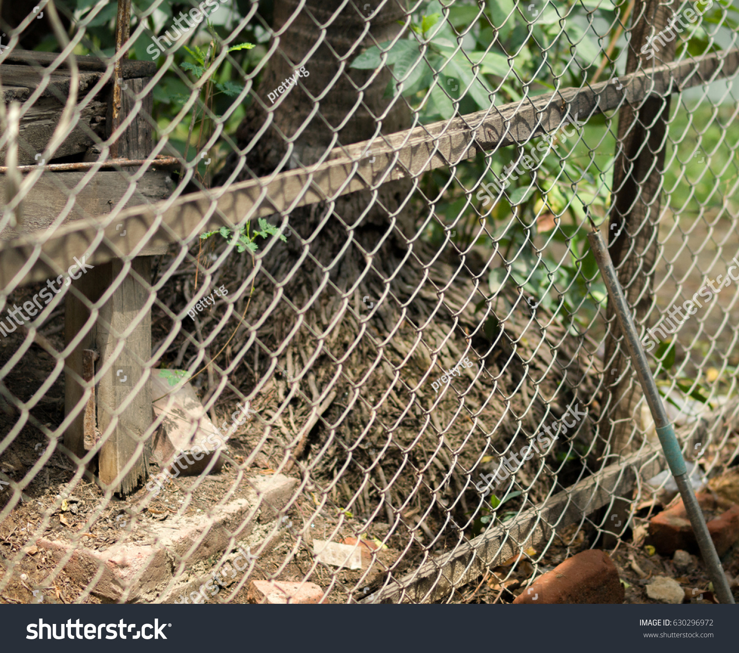 color photo chainlink fence also referred stock photo