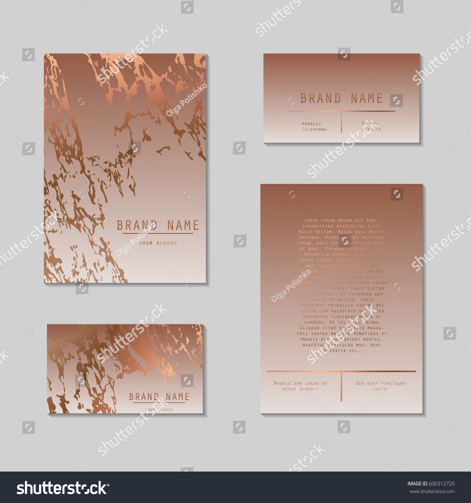 Business Card Cover Template Set Sophisticated Stock Vector
