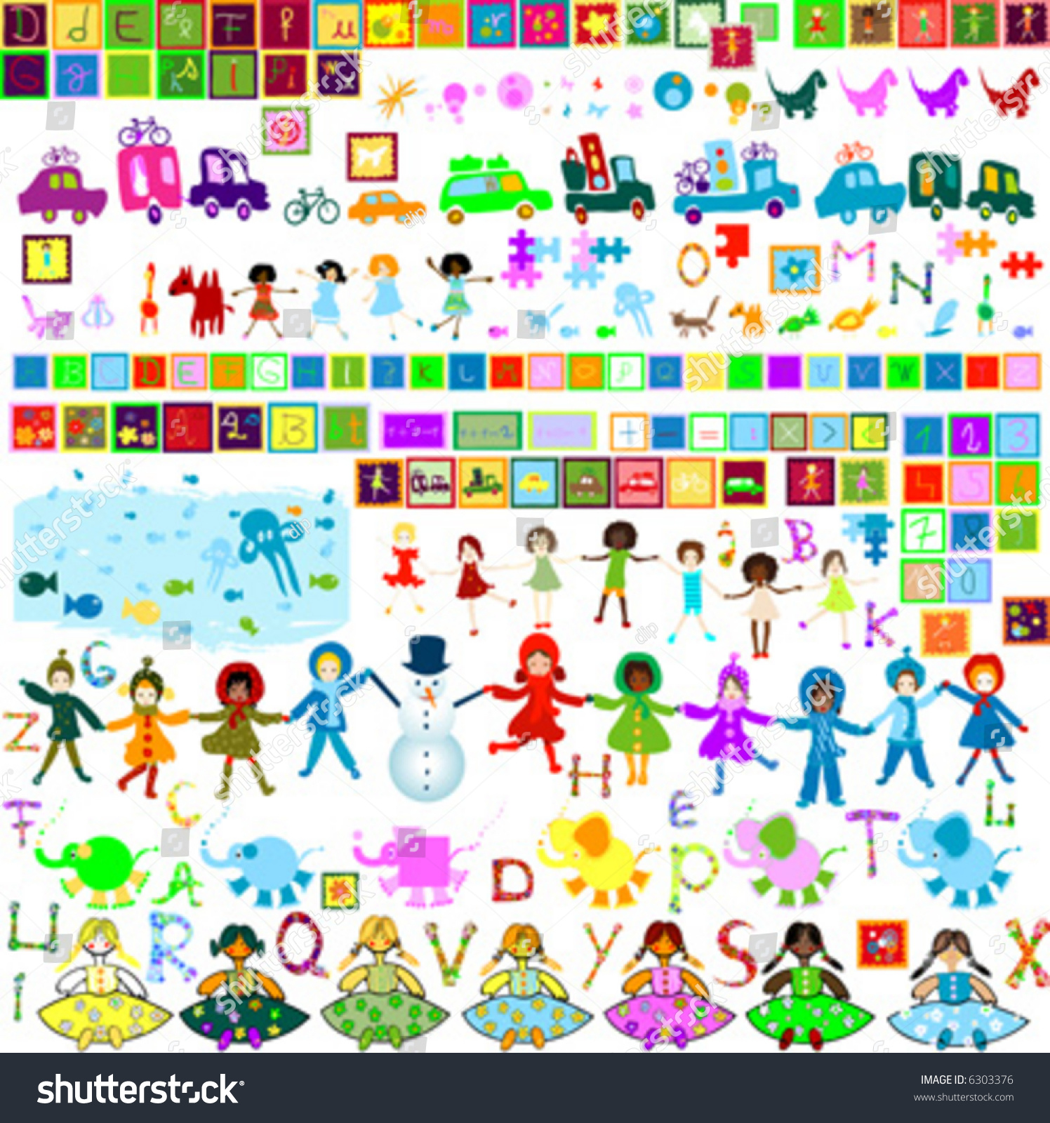 Preschool World Collection Of Design Elements For Kids