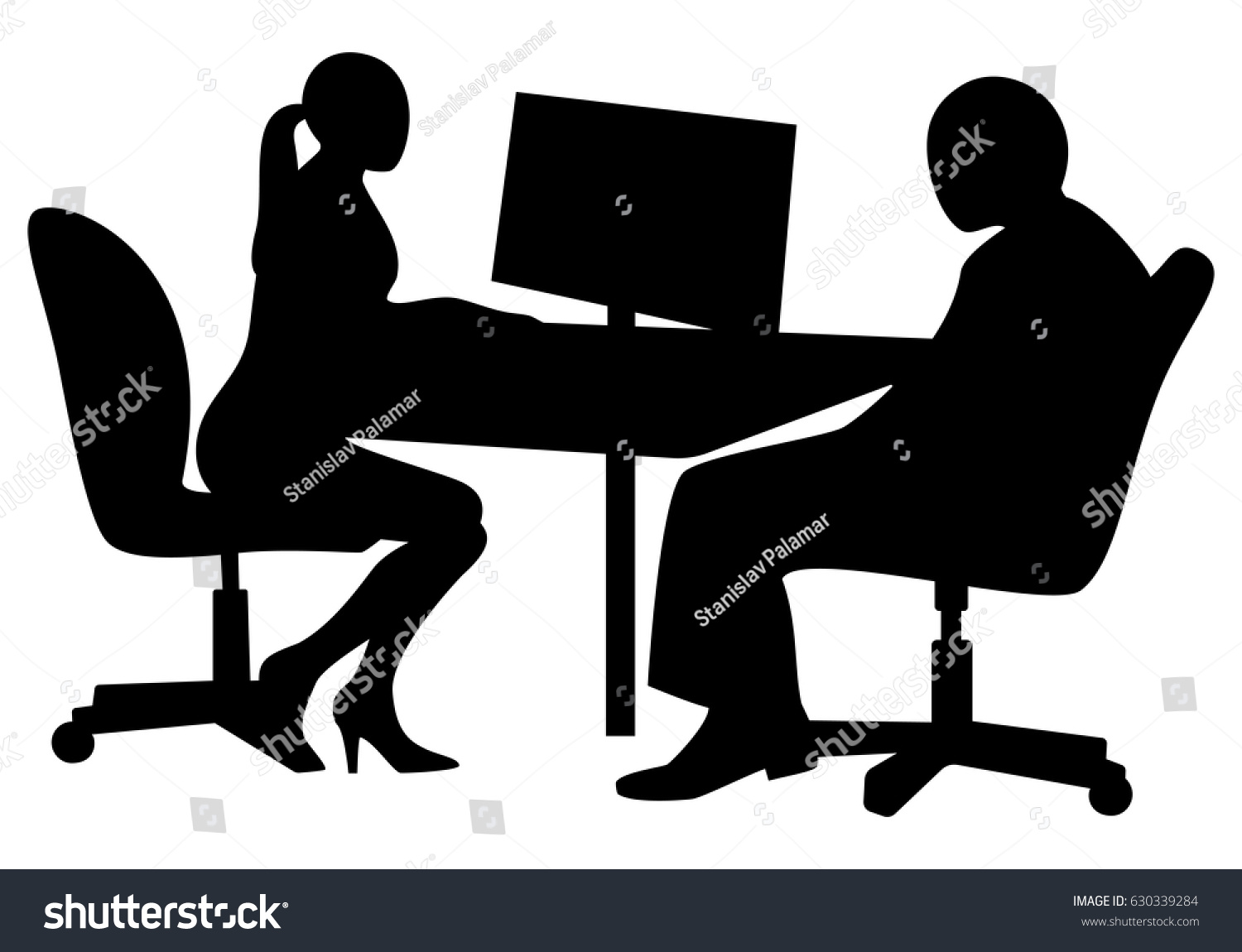 job interview young business woman interviewing stock vector