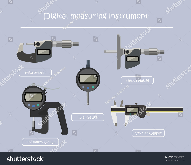 Digital Measuring Instrument Used Industry Measure Stock