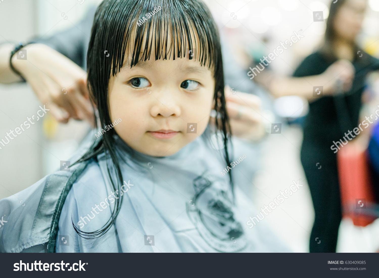 Asian Little Girl Haircut Hairdresser Beauty Stock Photo Edit Now
