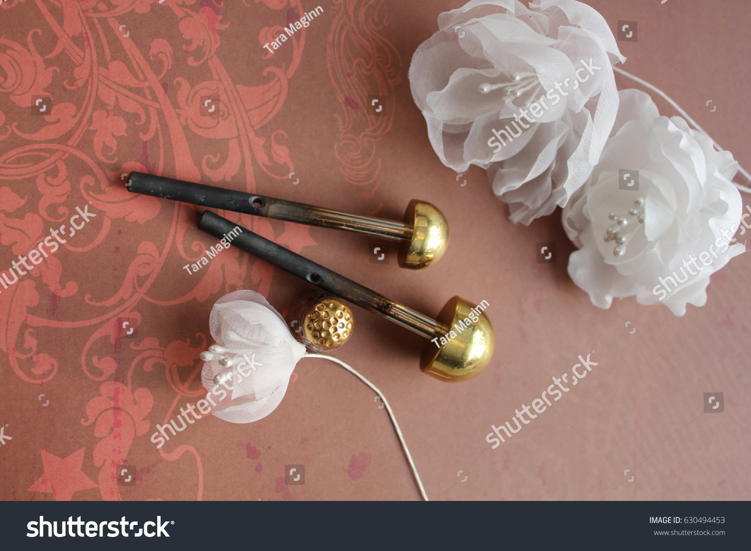 Millinery Hat Making Tools Silk Flowers Stock Photo Edit Now