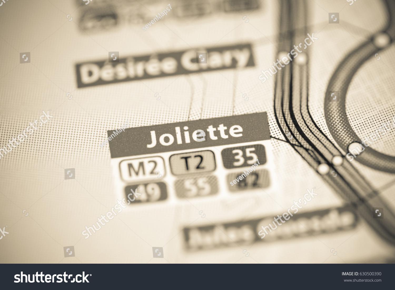 Joliette Station Marseille Metro Map Stock Photo 630500390