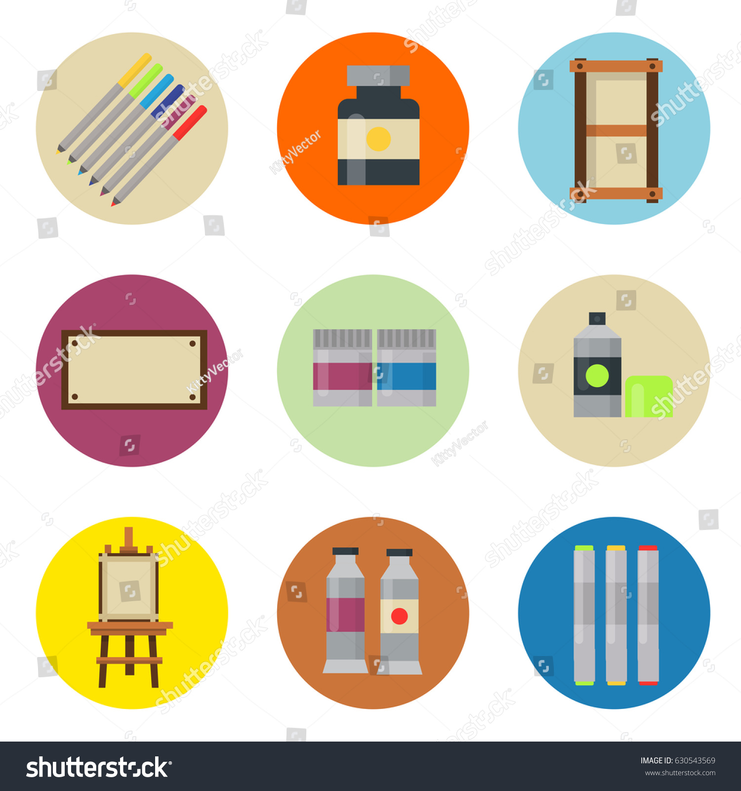 Creative Furniture Icons Set Flat Design Creative Furniture Icons