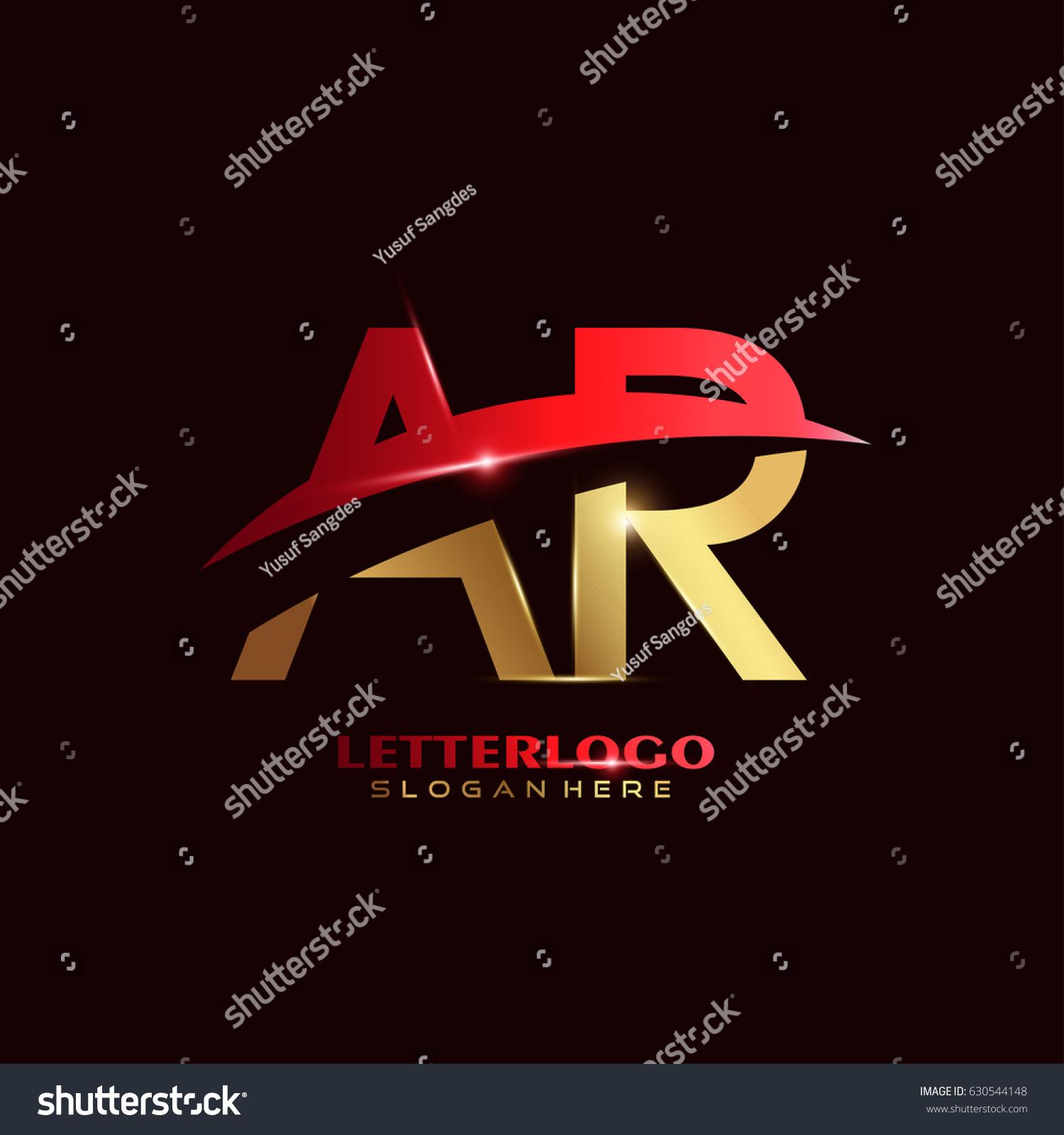 AR Logo Vector Initial Letter Logo Stock Vector (2018) 630544148 ...
