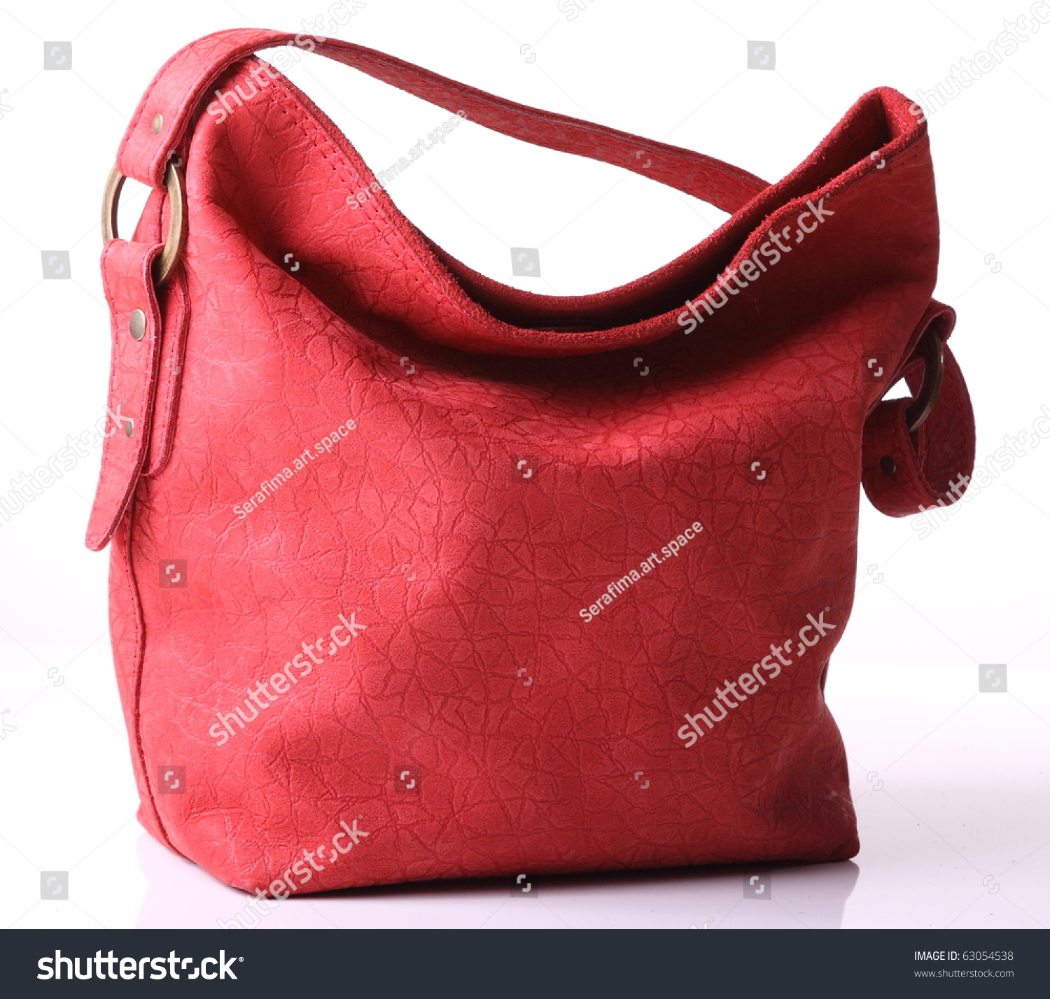 Red Leather Bag Stock Photo 63054538 - Shutterstock