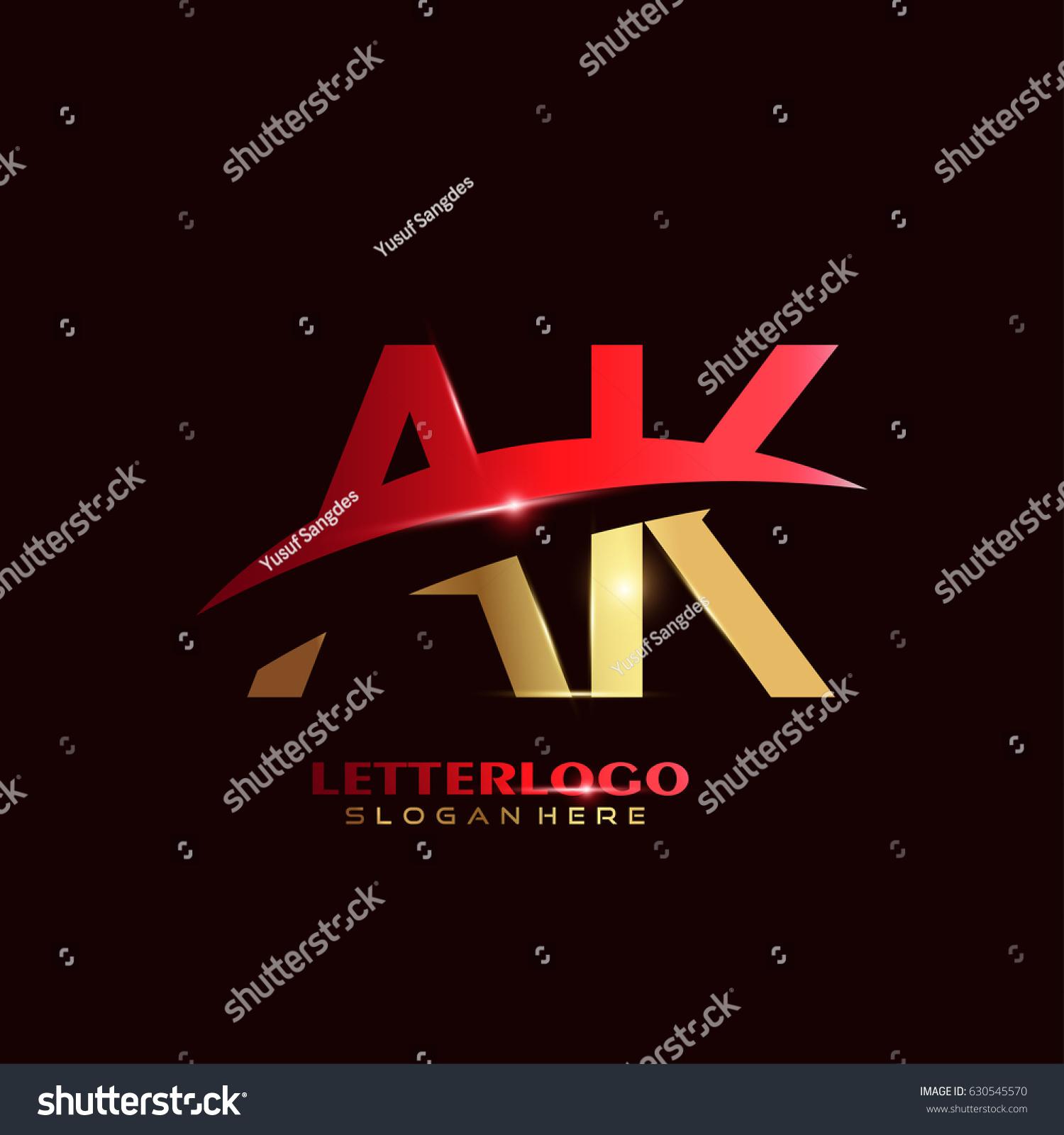 AK Logo Vector Initial Letter Logo Stock Photo (Photo, Vector ...