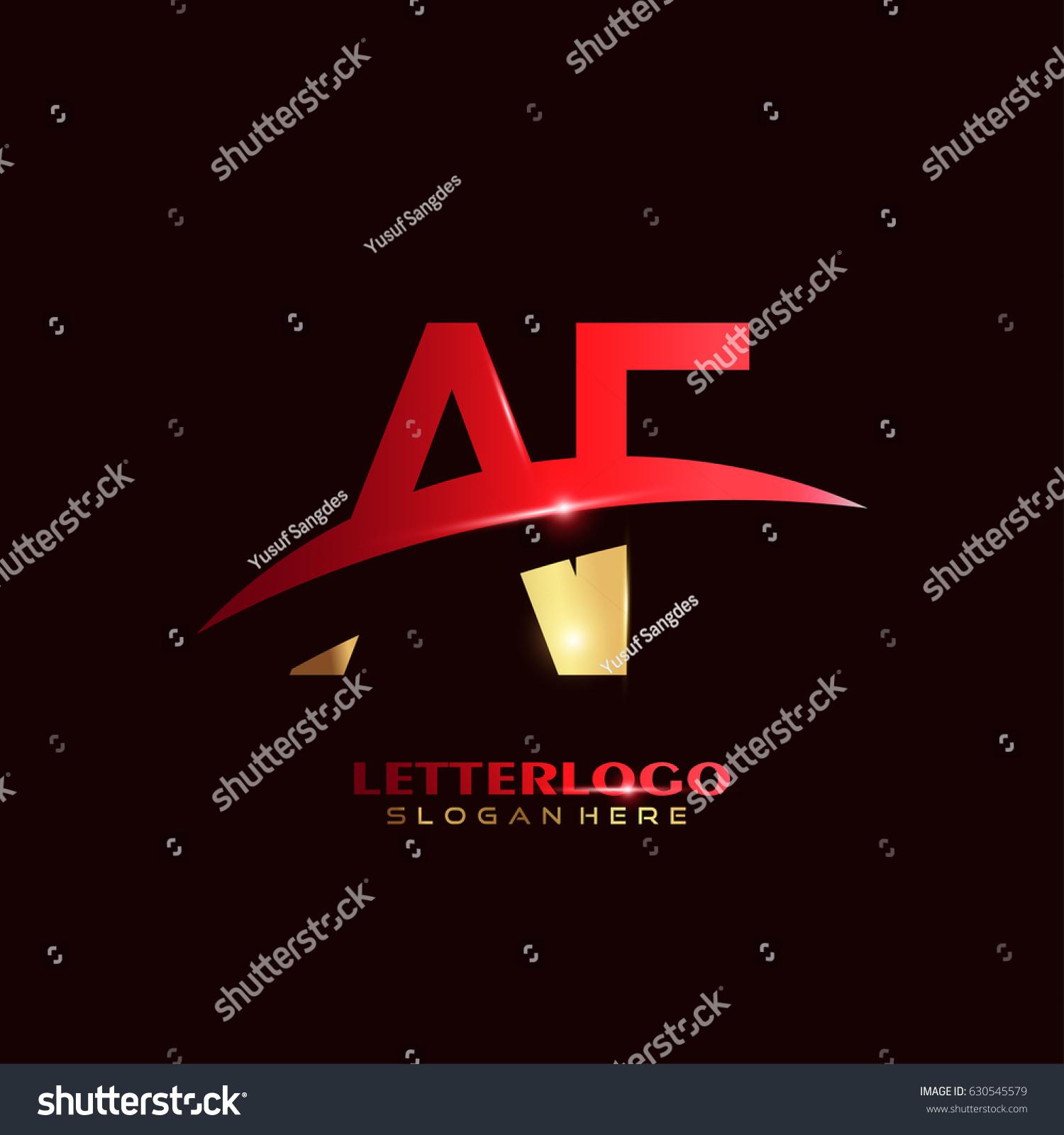AF Logo Vector Initial Letter Logo Stock Vector 630545579 - Shutterstock