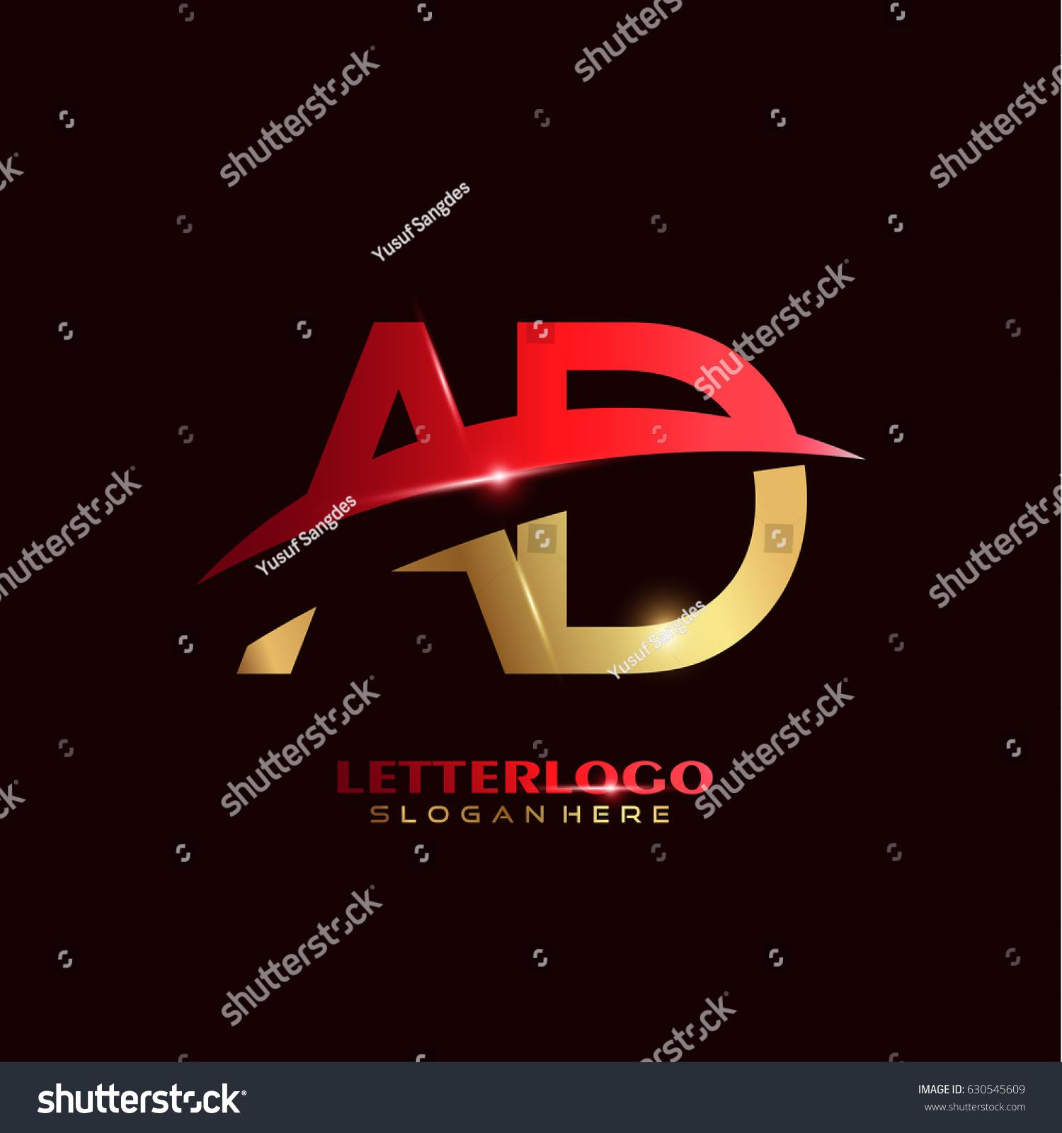 AD Logo Vector Initial Letter Logo Stock Vector 630545609 - Shutterstock