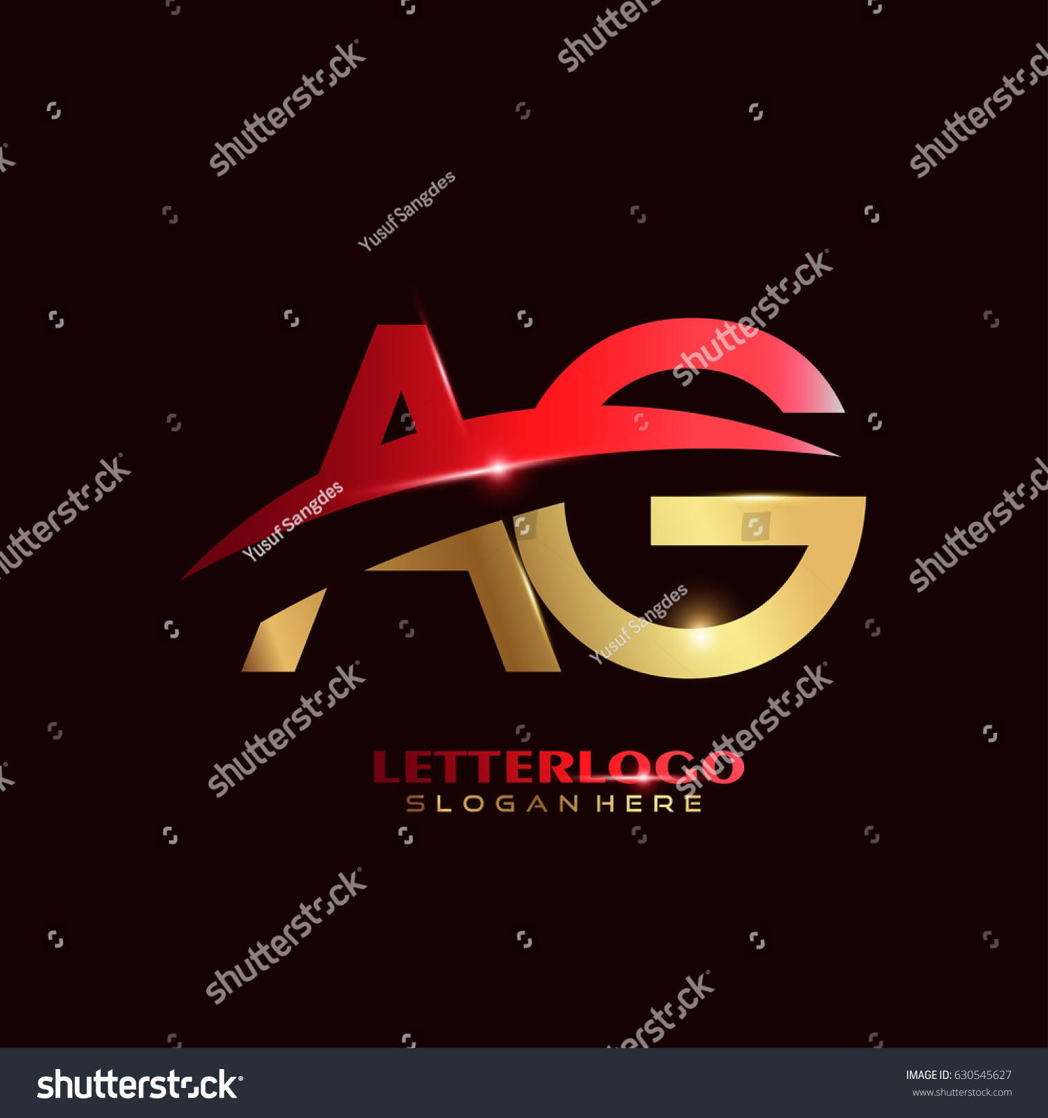 AG Logo Vector Initial Letter Logo Stock Vector 630545627 - Shutterstock