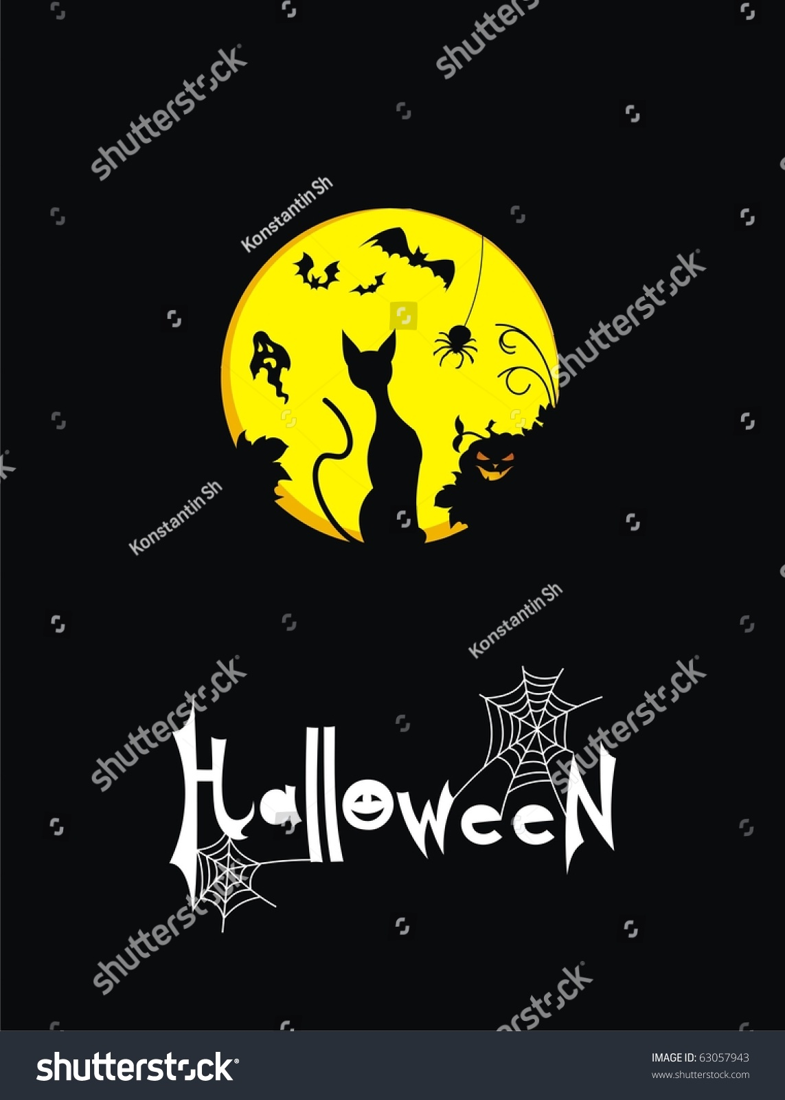 Greeting holiday halloween stock vector 63057943 shutterstock greeting for the holiday halloween kristyandbryce Images