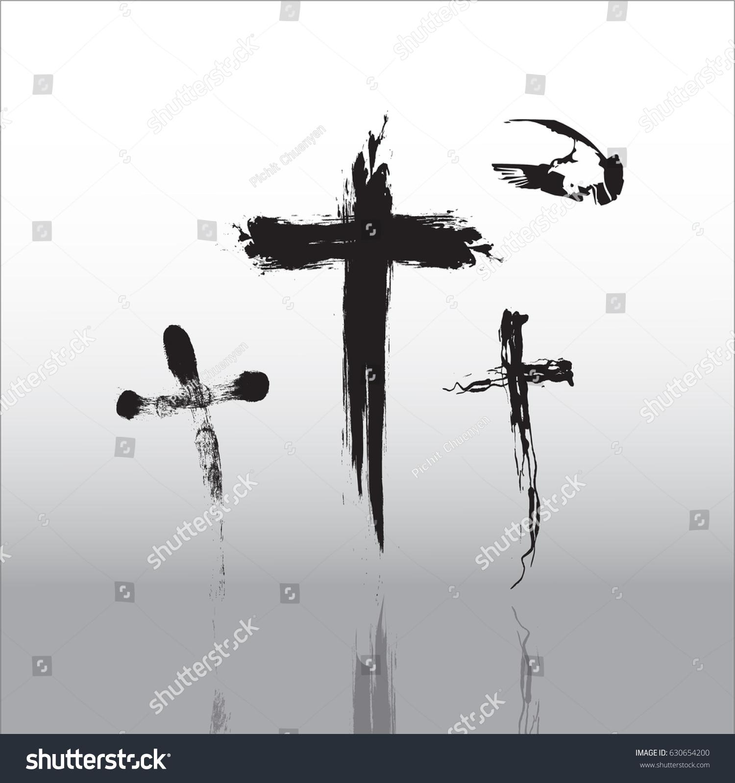 Crucifix Symbol Death Salvation Stock Vector Royalty Free