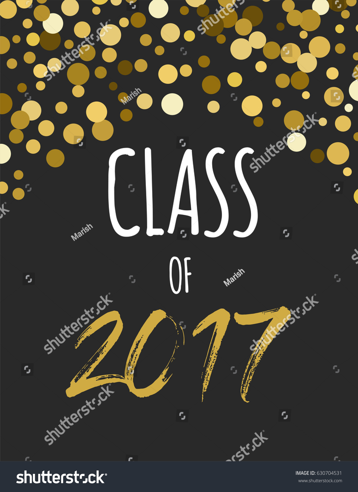 Graduation Class 2017 Party Invitations Posters Stock Vector ...
