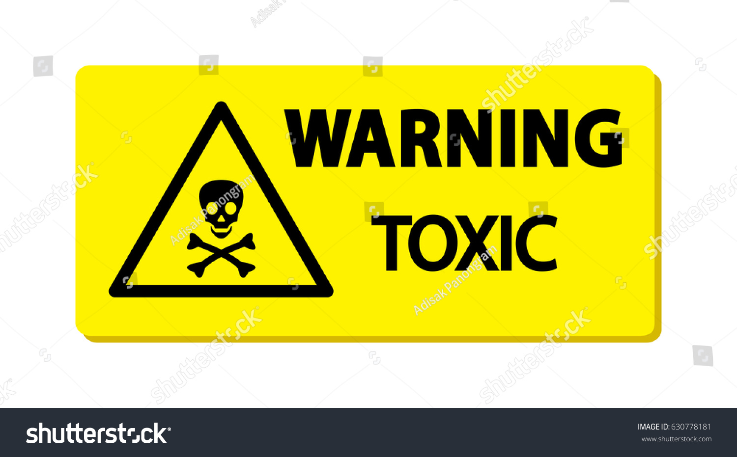 Warning toxic material sing symbol illustration stock vector warning toxic material sing symbol illustration biocorpaavc Images