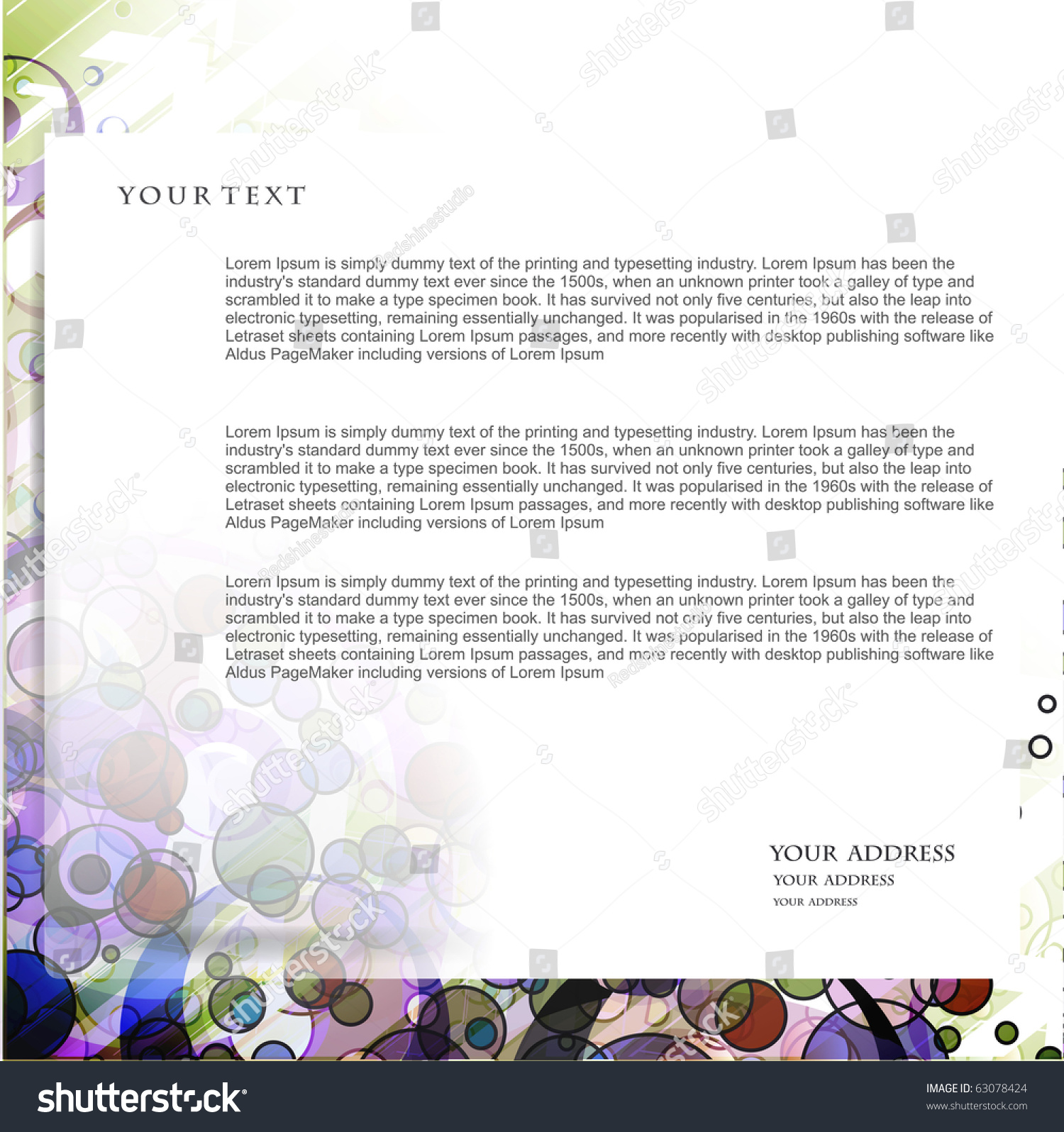 Abstract Business Email Template Design Vector Stock Vector Royalty