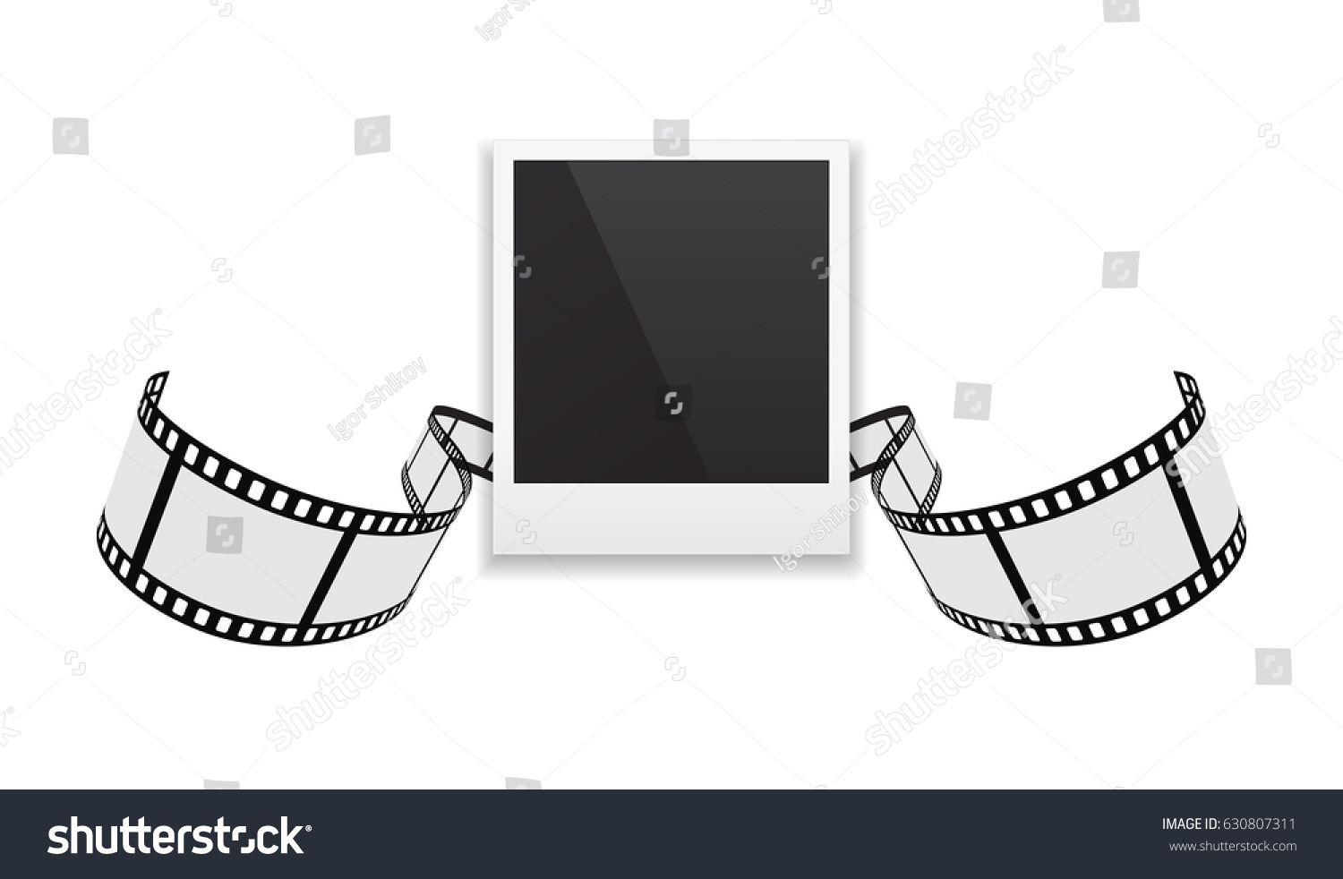 Photo Frame Film Strip 3 D Background Stock Illustration 630807311 ...