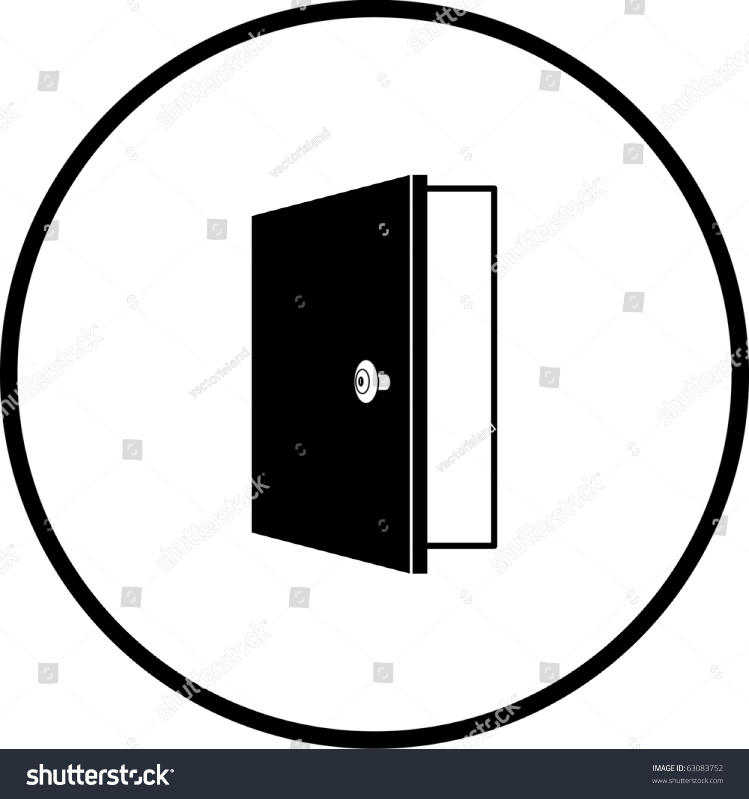 open door symbol stock illustration 63083752 shutterstock