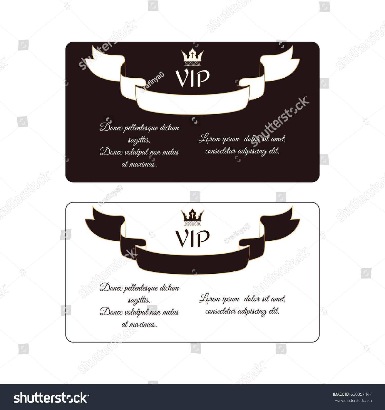 set two elegant horizontal discount cards stock vector