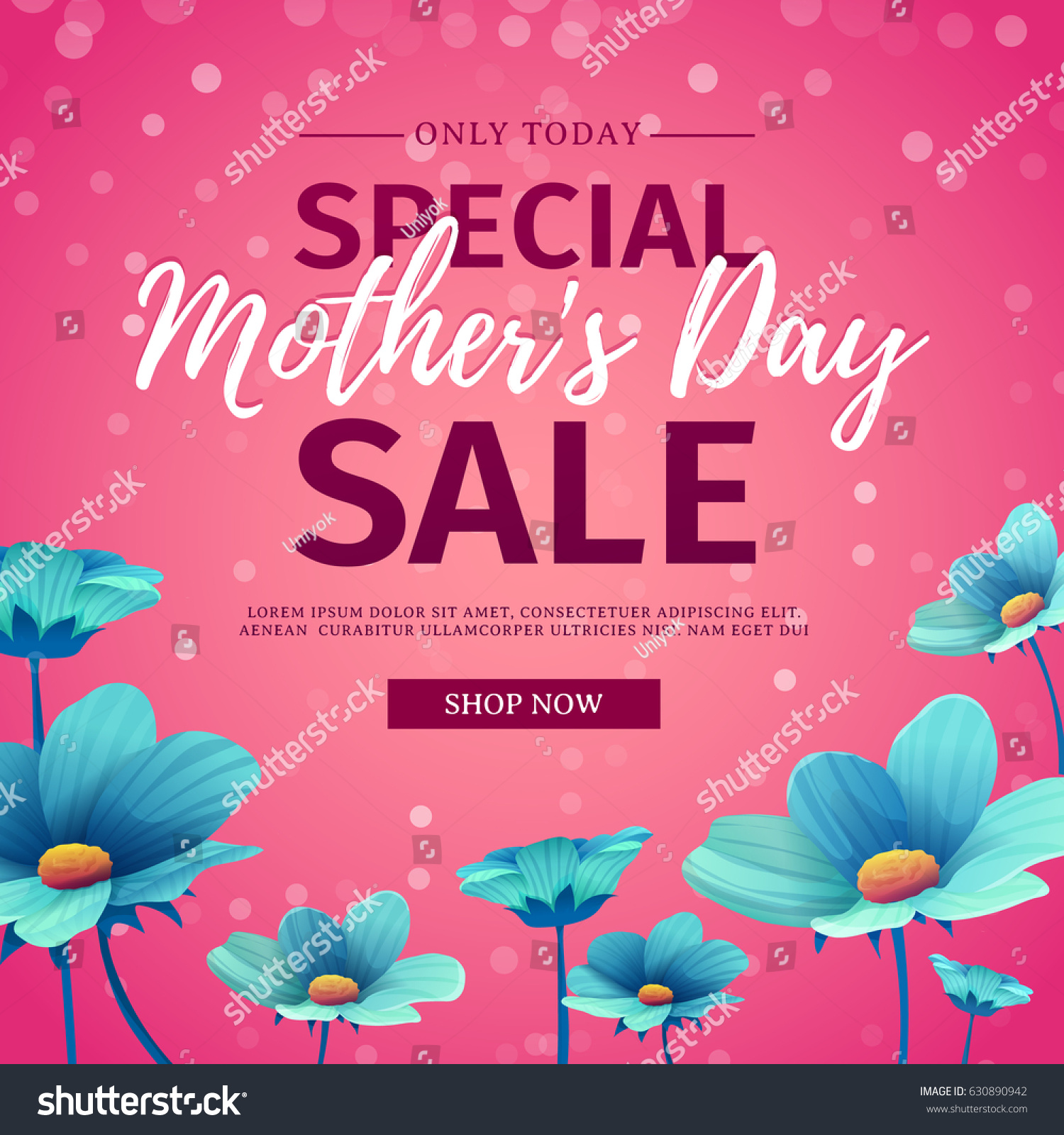 Template Design Discount Banner Happy Mothers Stock Vector Royalty