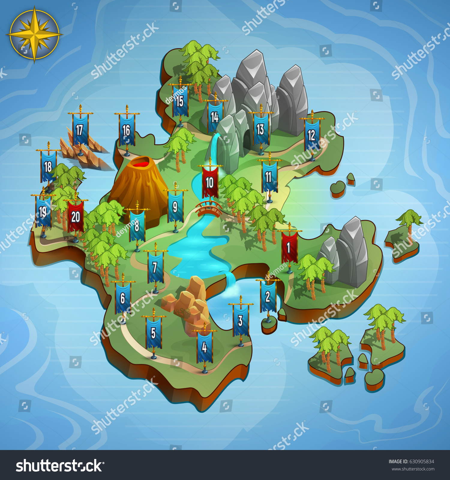Level maps game example user interface vectores en stock 630905834 level maps for game example user interface of game vector illustration gumiabroncs Images