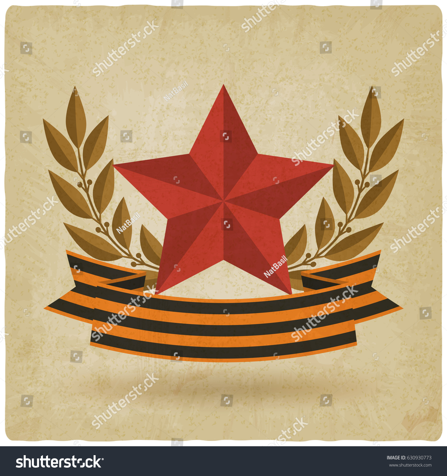 Victory day symbols star ribbon old stock vector 630930773 victory day symbols star with ribbon old background vector illustration eps 10 biocorpaavc
