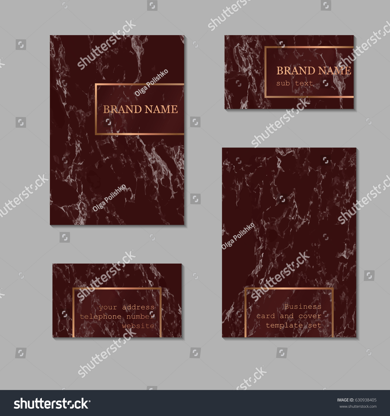 Business Card Cover Template Set Sophisticated Stock Vector ...