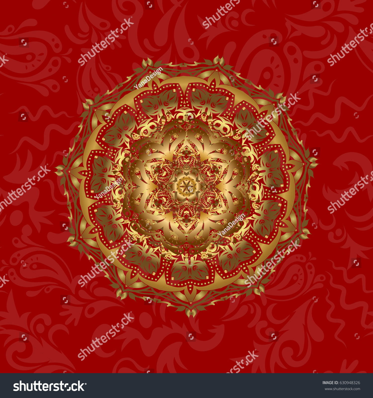 Vector Architectural Muslim Texture Design Can Stock Vector (Royalty ...