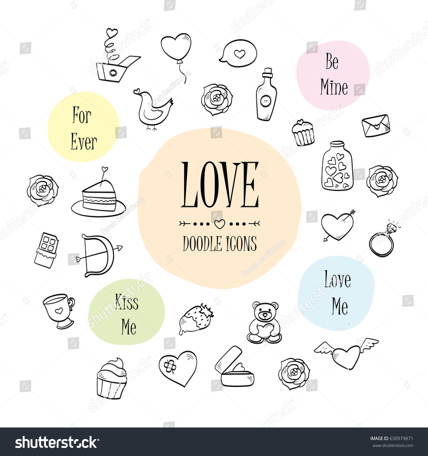 Love Romance Vintage Hand Drawn Doodle Stock Vector HD Royalty Free