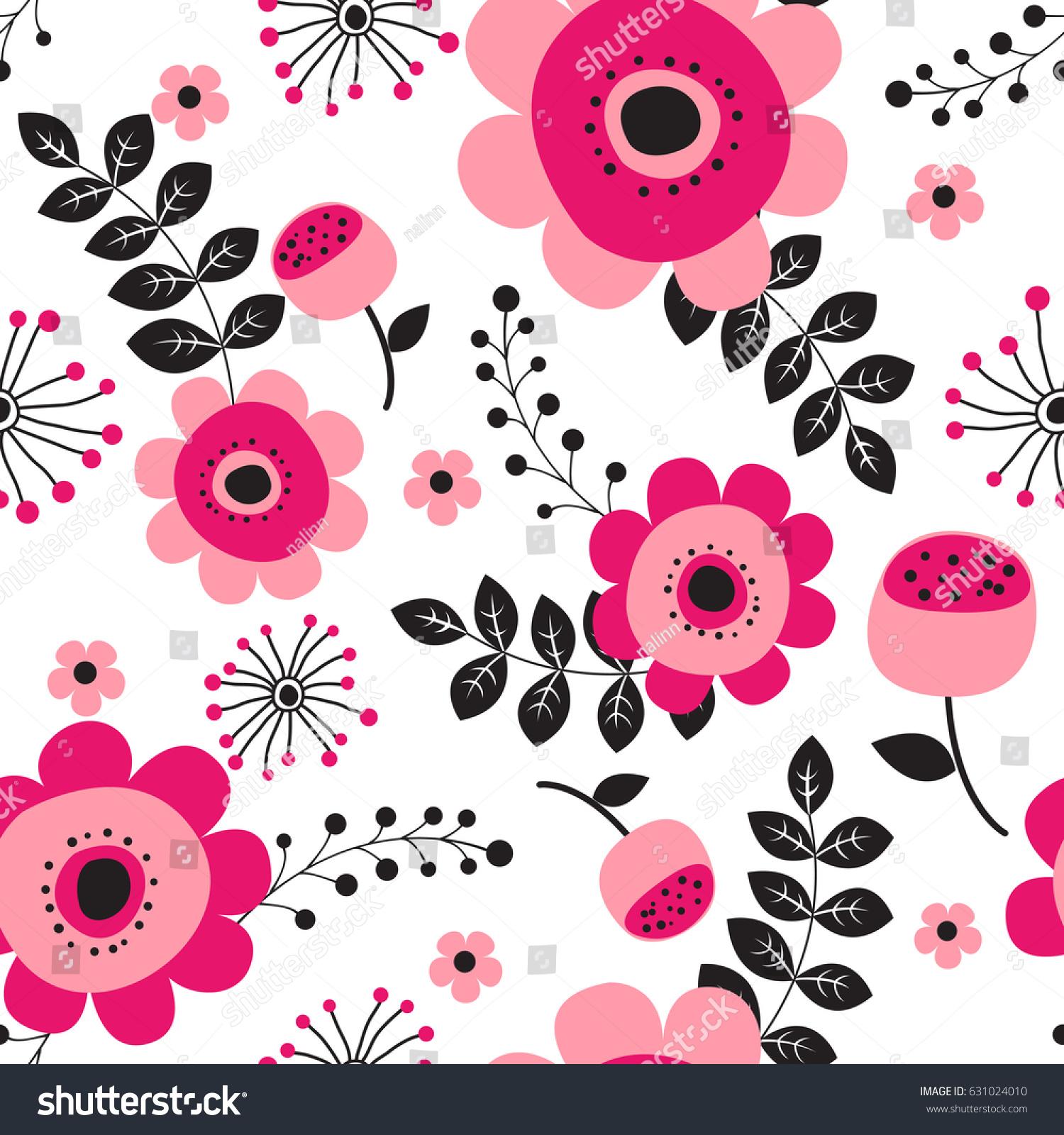 Spring Flowers Seamless Pattern Small Floral Stock Vektorgrafik