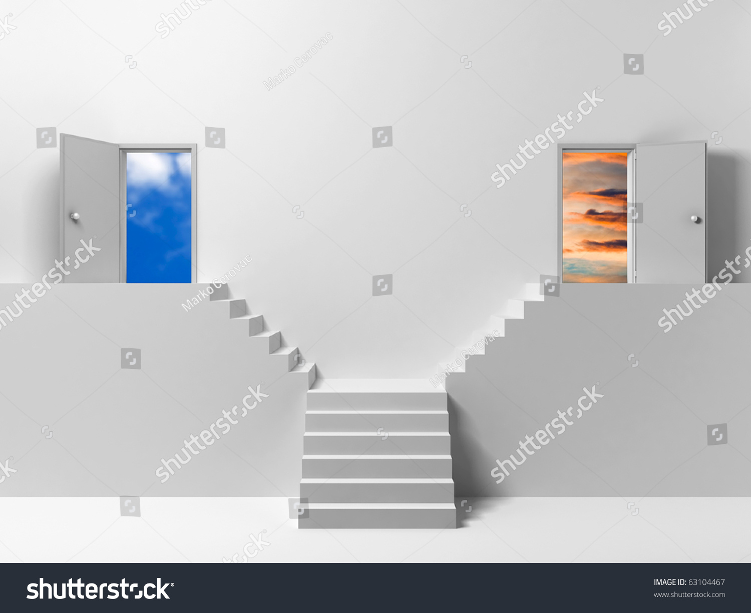 two doors two ways & Two Doors Two Ways Stock Illustration 63104467 - Shutterstock