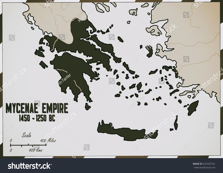 Royalty Free Stock Illustration Of Original Hand Drawn Map Mycenae