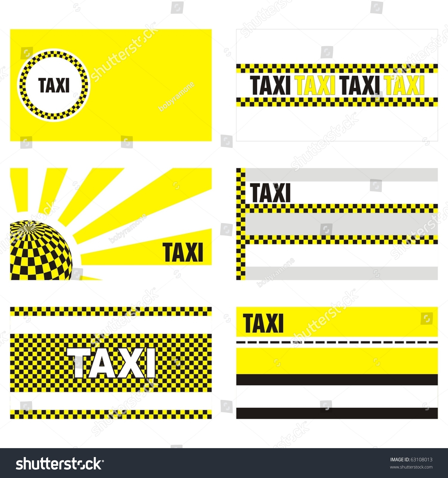 Taxi business cards 90 x 50 stock vector 2018 63108013 shutterstock taxi business cards 90 x 50 mm reheart Choice Image