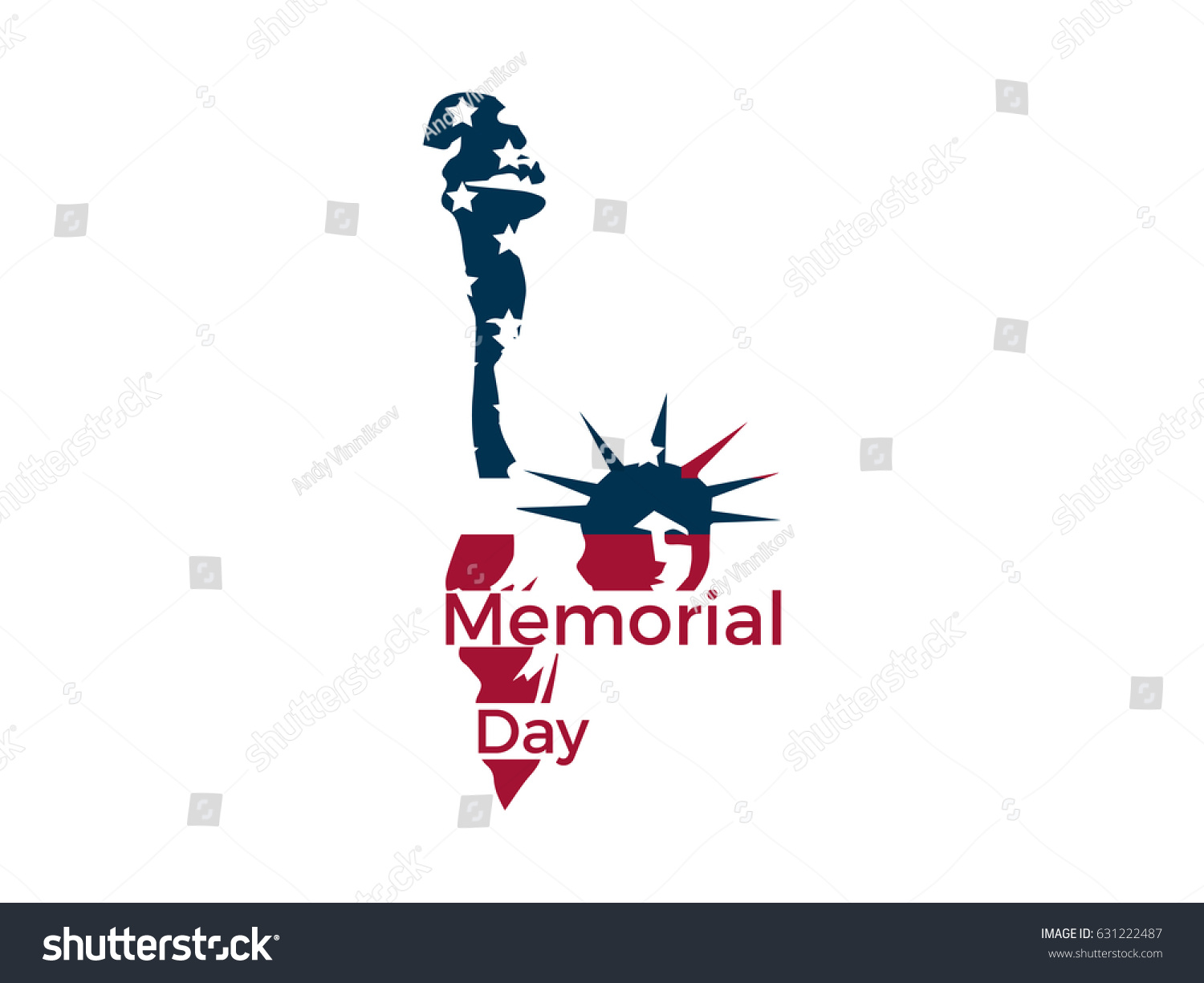 Memorial day statue liberty on white stock vector 631222487 statue of liberty on a white background emblem logo vector biocorpaavc