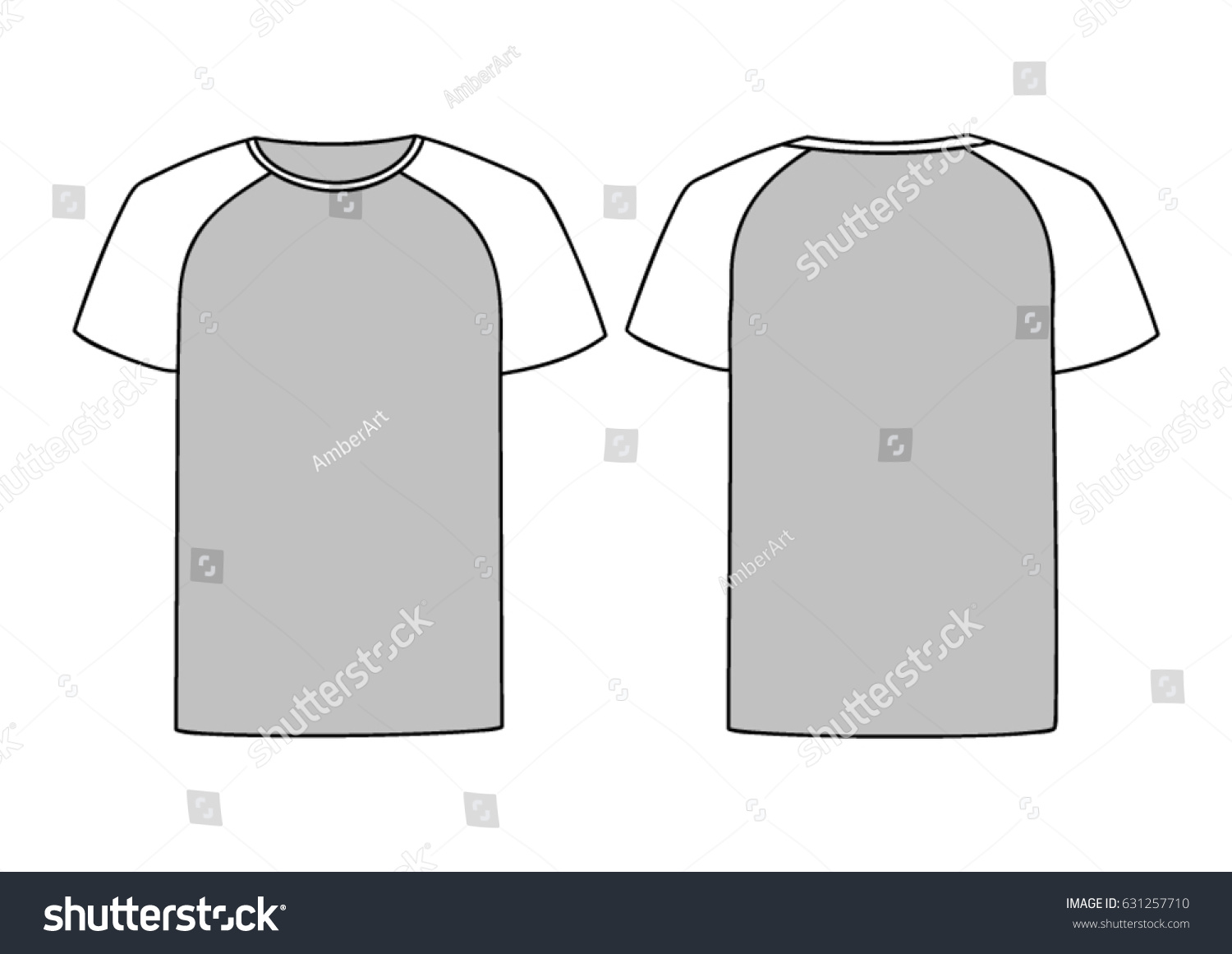 Grey Vector Males Females Tshirt Template Stock-vektorgrafik ...