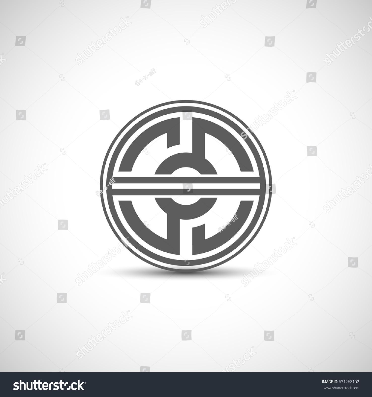 Balance Logo Circle Logo Template Design Stock Vector 631268102 ...