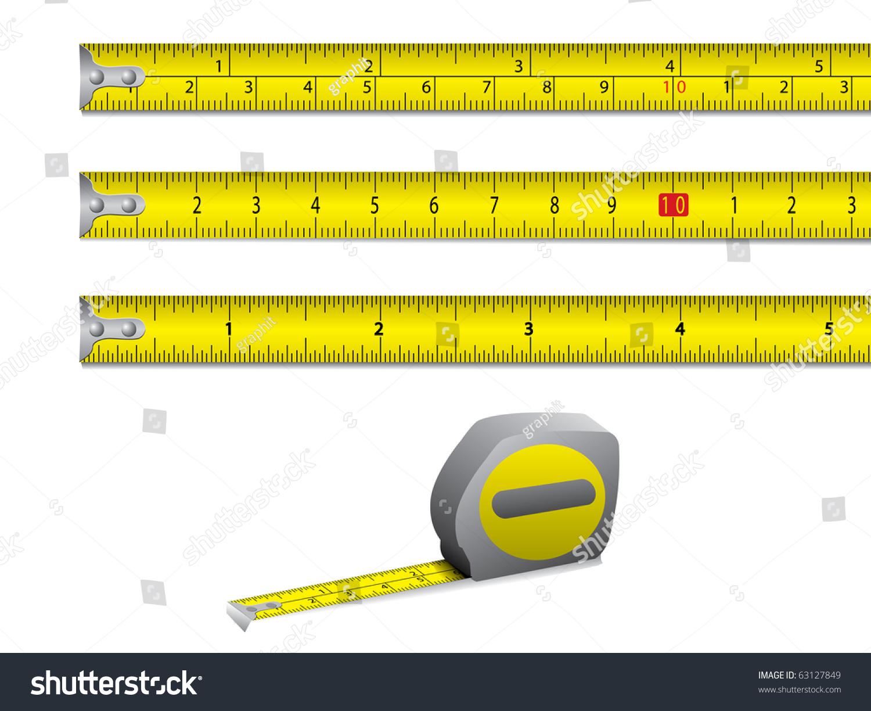 Tape measure inches centimeters vector stock vector 63127849 tape measure in inches and centimeters vector buycottarizona