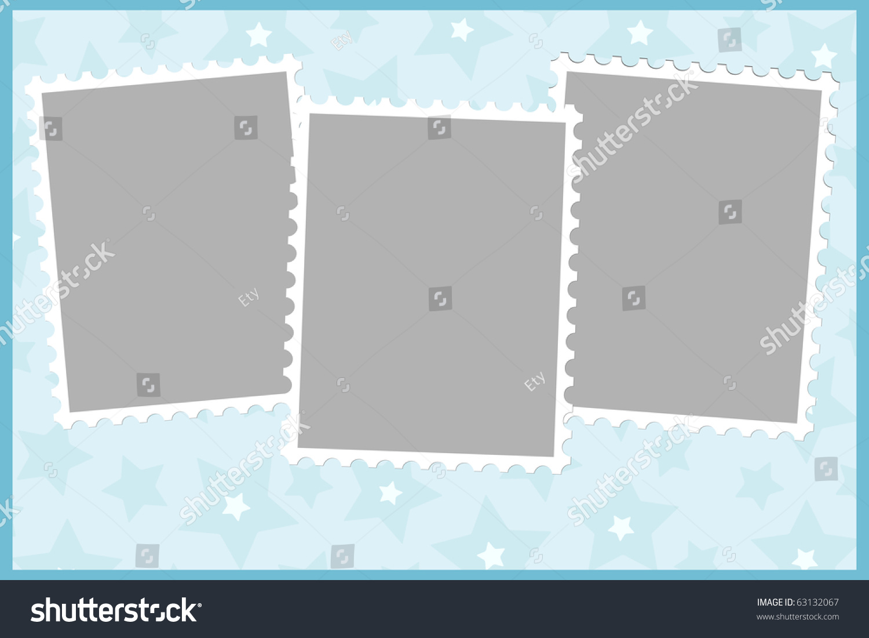 Blank Template Greetings Card Postcard Photo Stock Vector (Royalty ...