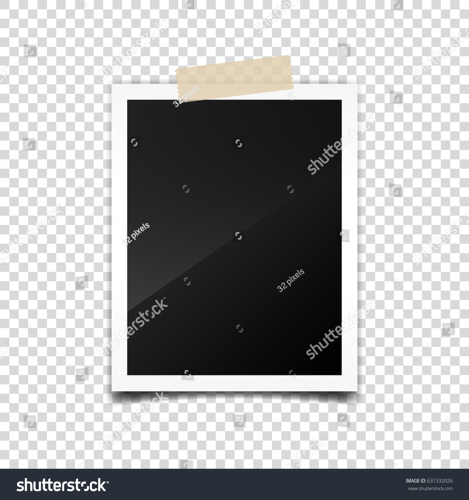 Photo Cardframefilm Set Retrovintage Photograph Shadow Stock Vector ...