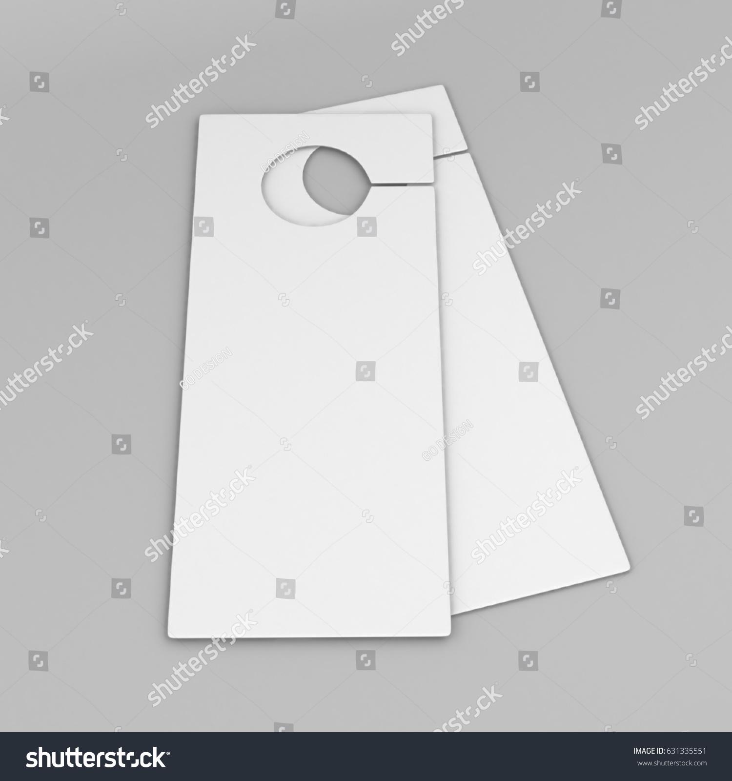 Door Hanger Flyer White Tags Room Stock Illustration 631335551 ...